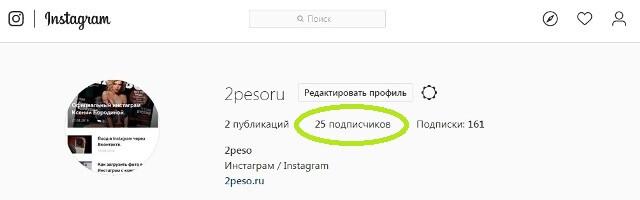Количество подписчиков в инстаграм